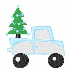 Xmas Tree Truck embroidery design
