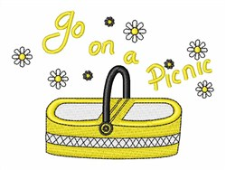 Go On A Picnic embroidery design