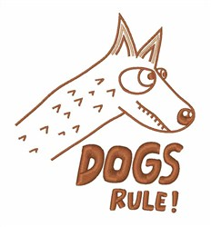 Dog Rule embroidery design