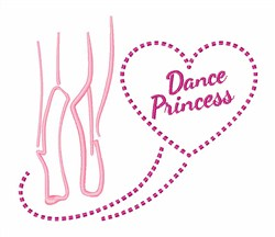 Dance Princess embroidery design