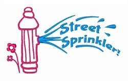 Street Sprinkler! embroidery design