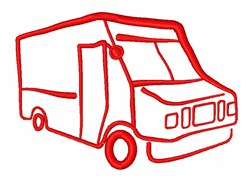 Delivery Truck embroidery design