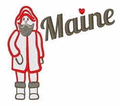 Maine Fisherman embroidery design