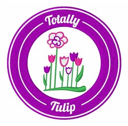 Totally Tulip embroidery design