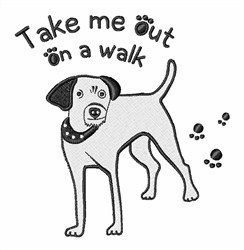 Take Me Out embroidery design