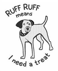 Need A Treat embroidery design