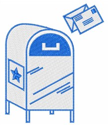 Mail Box embroidery design