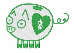 Piggy Bank embroidery design
