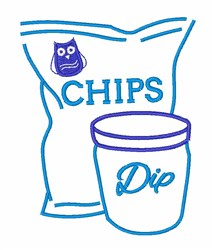 Chips & Dip embroidery design