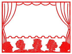 Theater Stage embroidery design
