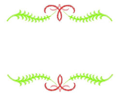 Fern Border embroidery design