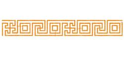 Greek Key Border embroidery design