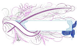 Feathery Namedrop embroidery design