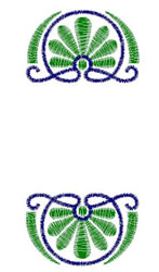 Double Scroll embroidery design
