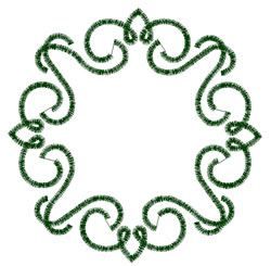 Scrollwork Circle embroidery design