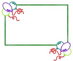 Balloon Frame embroidery design