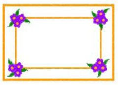 Rectangle and Flowers embroidery design