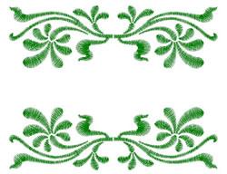 Floral Flourish Border embroidery design