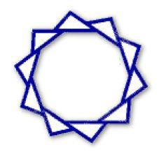 Decagon embroidery design