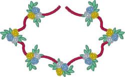 Floral Embellishment embroidery design