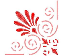 Corner Design embroidery design