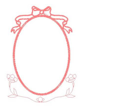 Oval Frame embroidery design