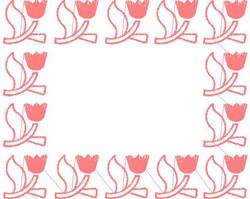 Tulip Frame embroidery design