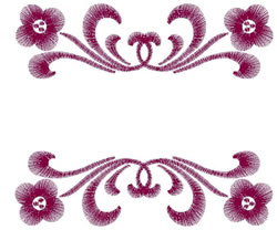 Floral Double Border embroidery design