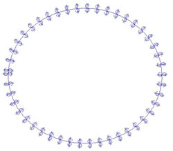 Dollar Circle Frame embroidery design