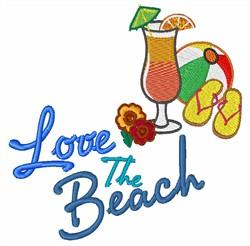 Love The Beach embroidery design