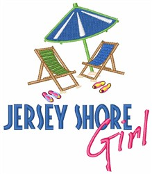 Jersey Shore Girl embroidery design
