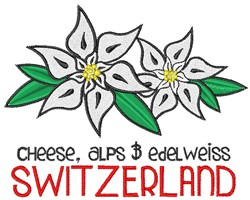 Switzerland embroidery design