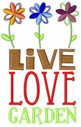 Live Love Garden embroidery design