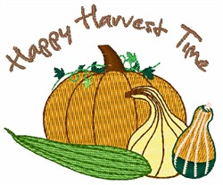 Happy Harvest Time embroidery design