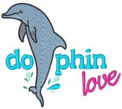 Dolphin Love embroidery design