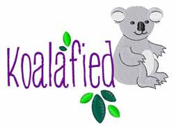 Koalafied embroidery design