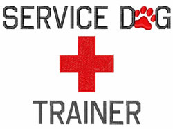 Service Dog Trainer embroidery design