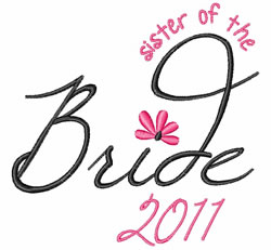 Sister Of Bride embroidery design