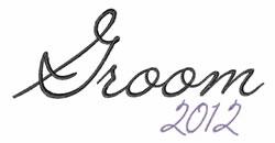 Groom 2012 embroidery design