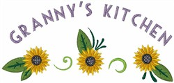 Grannys Kitchen embroidery design