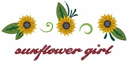 Sunflower Girl embroidery design