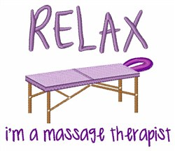 Relax Massage Table embroidery design