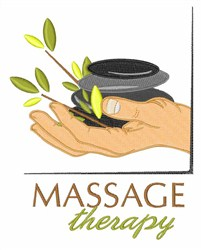 Hot Stone Therapy embroidery design