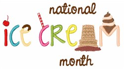 National Ice Cream embroidery design