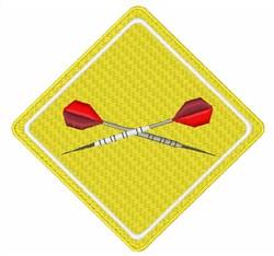 Caution Dart embroidery design