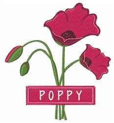 Poppy embroidery design