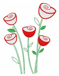 Rose Stems embroidery design