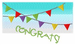 Congrats Flags embroidery design