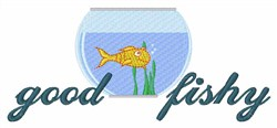 Good Fishy embroidery design