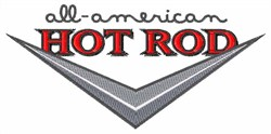 All American Car embroidery design